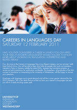 Careers in Languages day flyer