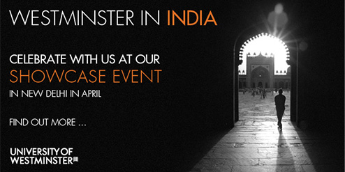 WESTMINSTER IN INDIA, celebrate with us at our showcase event in New Delhi in April, find out more...