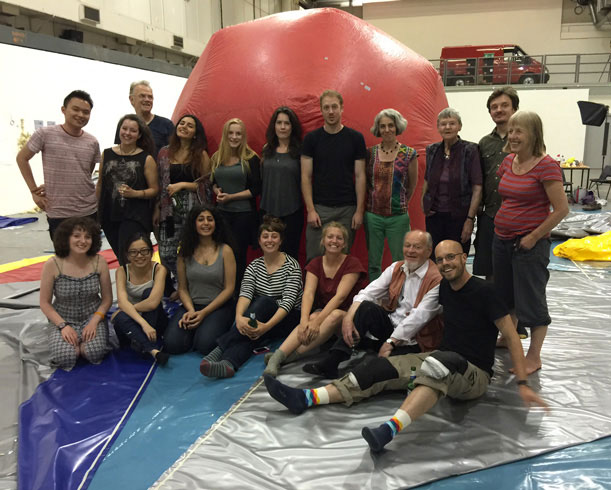 Action space inflatable cinema makers at University of Westminster Ambika P3