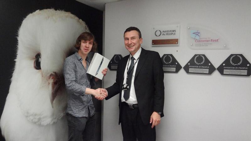 Law student wins iPad in Aramark's survey prize draw