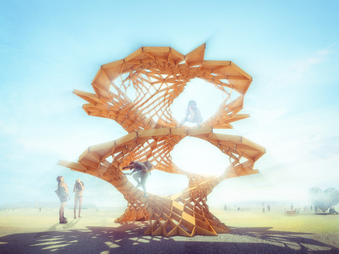 Architecture students enter Burning Man festival with Infinity Tree design
