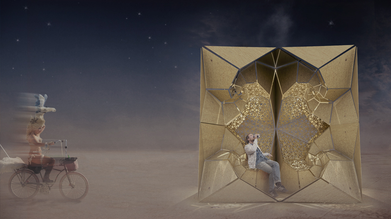 Architecture students enter Burning Man festival with Reflection design