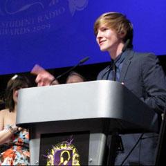 Dan Roberts of Smoke Radio making his acceptance speech
