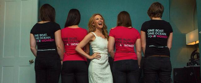 Kylie Minogue with the Coxless Crew