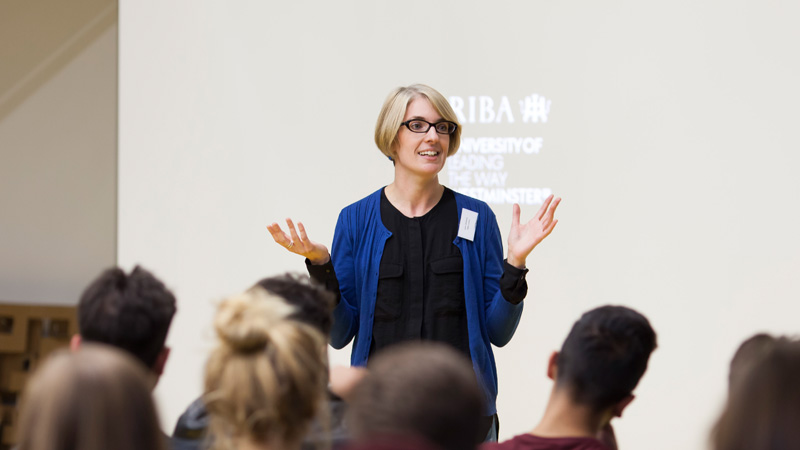 Laura-Broderick-at-RIBA-mentoring-event-for-Westminster-students-in-partnership-with-the-University-of-Westminster