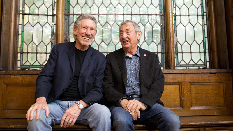 Pink-Floyd-Roger-Waters-and-Nick-Mason-on-University-of-Westminster-Regent-Campus