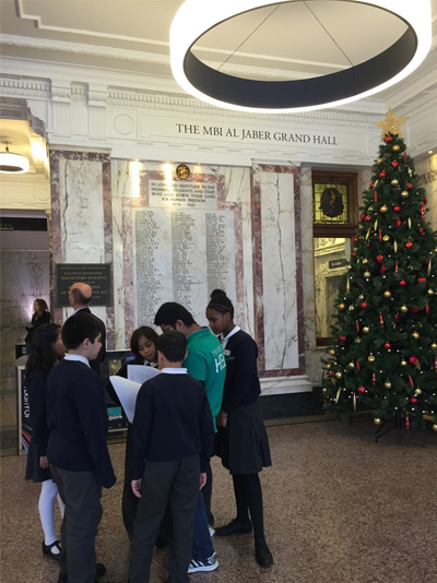 Pupils at a November outreach event at Regent Campus of the University of Westminster