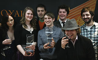 RTS Drama Award students pictured at the ceremony