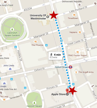 Summer Streets Regent Street University of Westminster venues