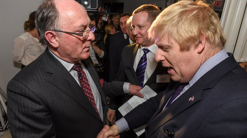 Vice Chancellor Professor Geoffrey Petts meets Mayor of London Boris Johnson in New York