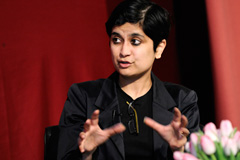 Shami Chakrabarti on stage