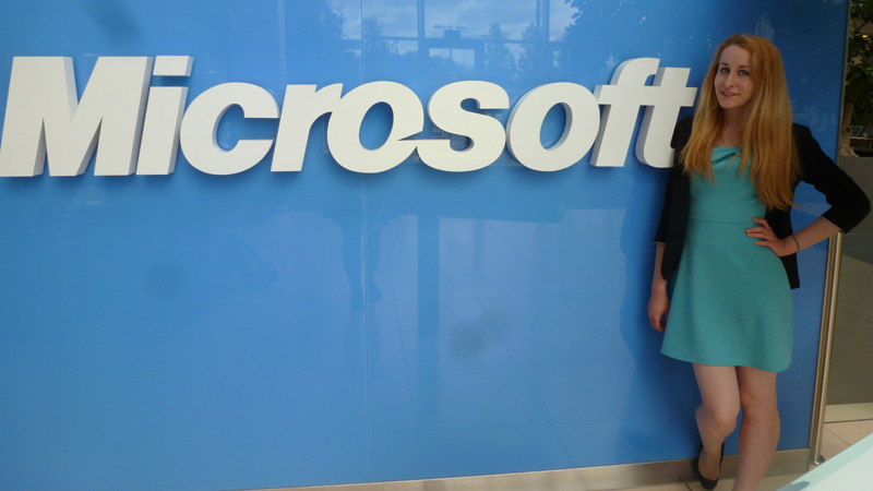 Westminster student Diana-Mirabela Catanescu in the Microsoft Office Specialist World Championship UK final