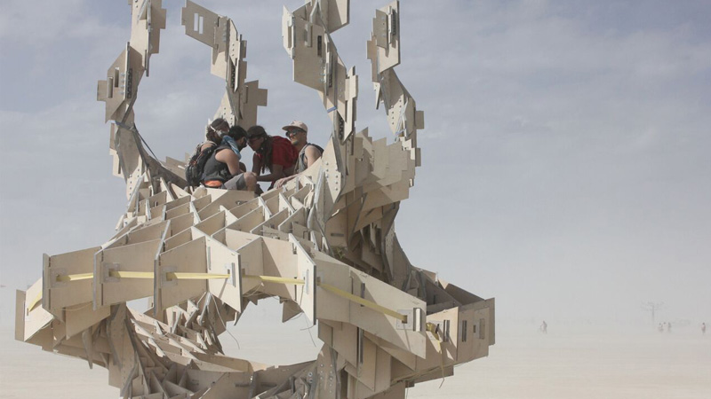 Westminster-student-Tobias-Power-The-Infinity-Tree-at-Burning-Man-Festival-in-Nevada