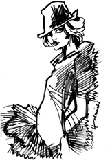 Girl with fedora
