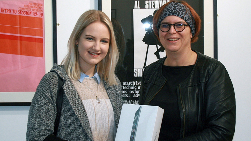 Media, Arts and Design winner: Phoebe Mead, UG Photographic Arts - Prize presented by Kerstin Mey, Dean of Faculty.