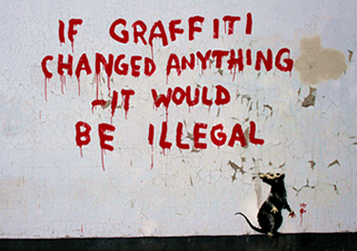 Banksy grafitti art