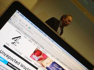 Screenshot of a blog on a computer screen