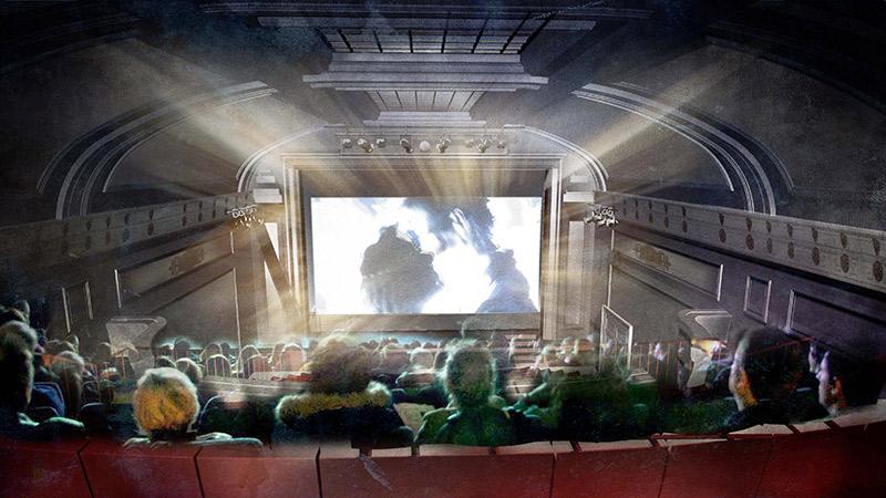 Artist's impression of the Regent Street Cinema auditorium