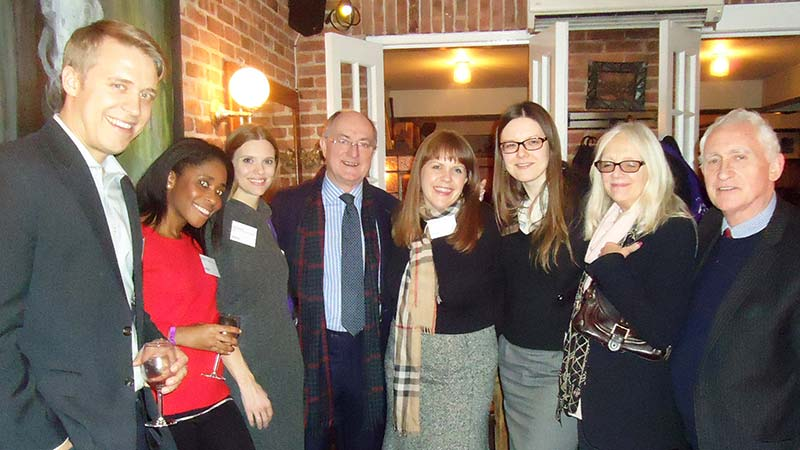 Vice Chancellor Professor Geoffrey Petts together with the University of Westminster alumni based in New York