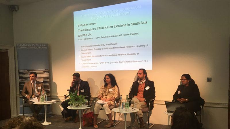 Chevening South Asia Journalism Programme fellows host