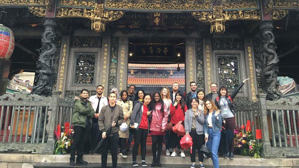 Politics students visit National Chengchi University in Taipei