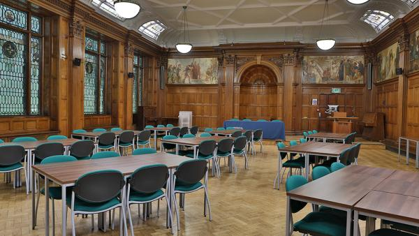 Interior view of Fyvie Hall in Regent Street campus