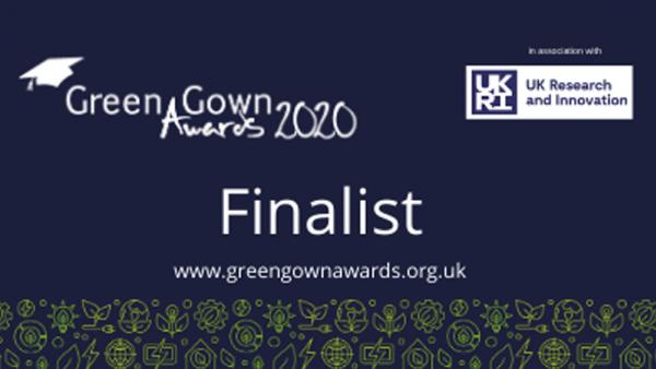 Graphic poster for Green Gown Awards 2020 Finalists