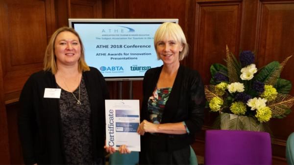 from left to right: Vicki Wolf, Partnerships Manager (Education) ABTA and Dr Nancy Stevenson