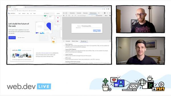 Screenshot of the web.dev LIVE conference