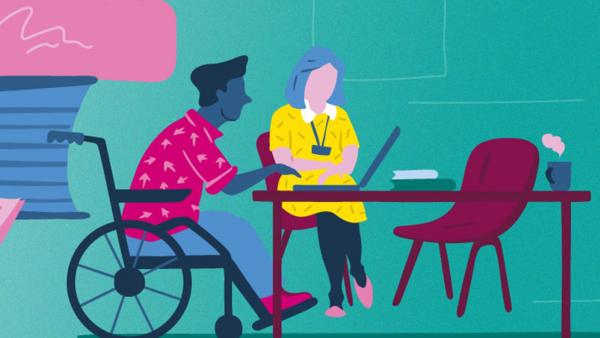 Illustration for the Support and services section of the Student Hub