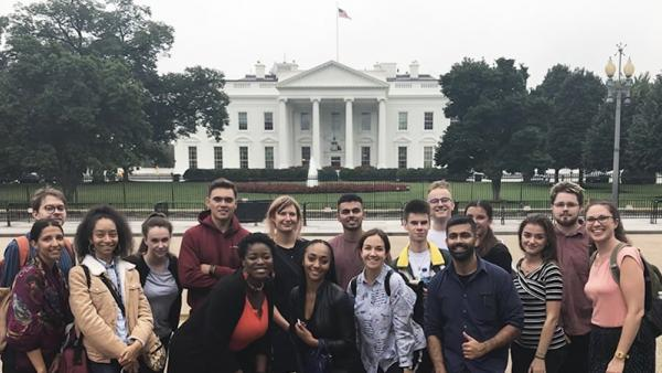 Group photo in front of the White House