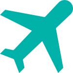 airplane icon in turquoise