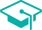 alumni icon in turquoise