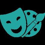 mask and paintbrush icon