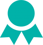 awards icon in turquoise
