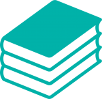 books icon in turquoise