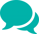 chat icon in turquoise