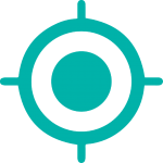 crosshair icon in turquoise