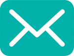 email icon in turquoise