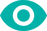 eye icon in turquoise