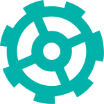 gear icon in turquoise