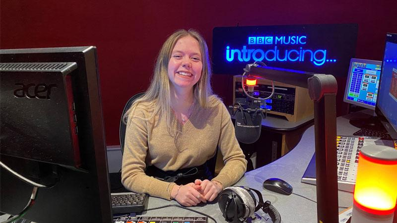 Alumna Natalie Malcolm at BBC Radio Cambridgeshire