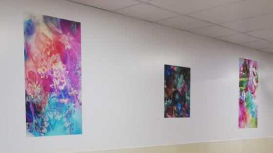 three-artworks-on-hospital-wall