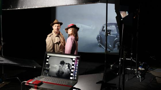 Reconstructing a scene from 'Casablanca' in the Film Studio