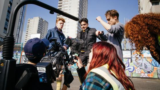 2nd year students shooting on location: 'Husky'