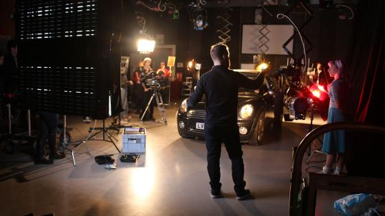 Lighting workshop in the Film Studio