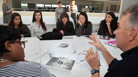 Group discussion in the Architecture Studios