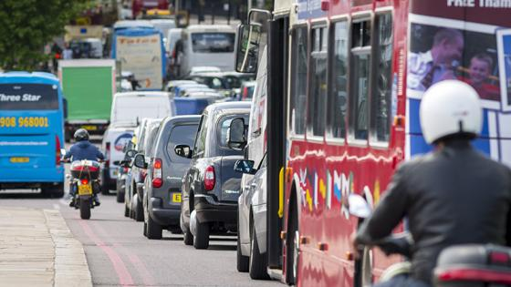 Cars and traffic in London