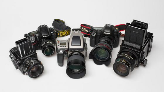 Cameras available to photography students