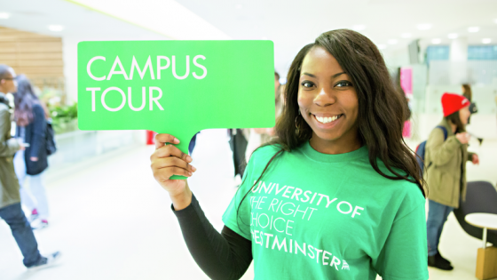 Campus tours at the University of Westminster